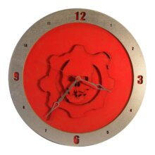 Gears of War Clock on Red Background