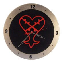 Heartless Clock with Black Background