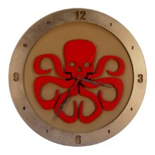 Hydra on Beige Background Clock