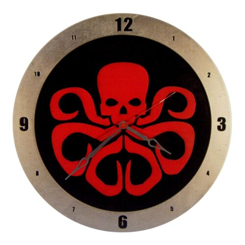 Hydra on Black Background Clock