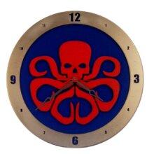 Hydra on Blue Background Clock