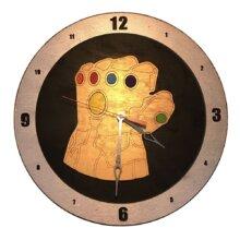 Infinity Gauntlet Clock on Black background