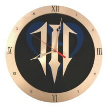 Kingdom Hearts III Clock with roman numeral frame