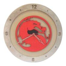 Mortal Kombat Clock with Beige Background