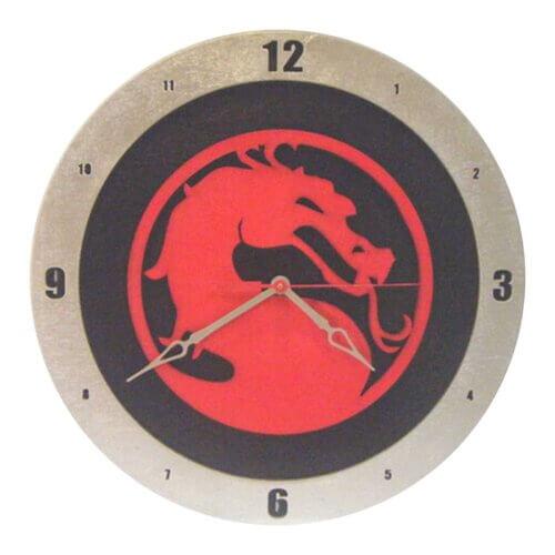 Mortal Kombat Clock with Black Background