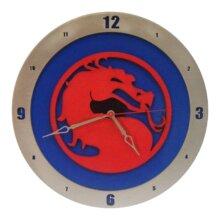 Mortal Kombat Clock with Blue Background