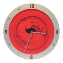 Mortal Kombat Clock with Red Background