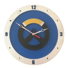 Overwatch Clock with Blue Background