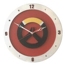 Overwatch Clock on Red Background
