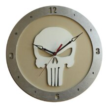 Punisher Clock on Beige background