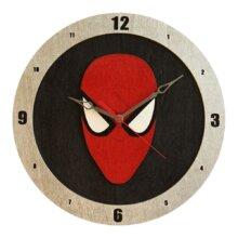 Spiderman on Black Background Clock