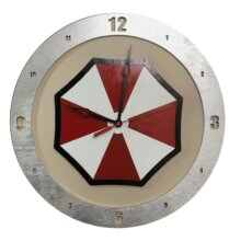 Umbrella Corp Clock with Beige Background