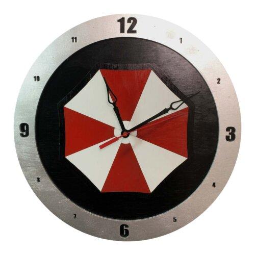 Umbrella Corp Clock with Black Background