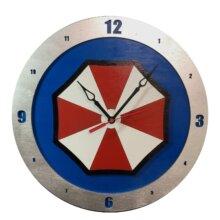 Umbrella Corp Clock with Blue Background