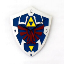 Hylian Shield Clock from Legend of Zelda