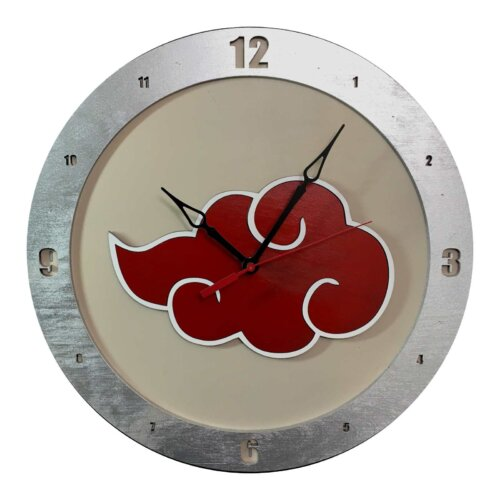 AKatsuki Naruto Clock on Beige Background