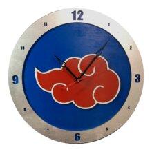 AKatsuki Naruto Clock on Blue Background