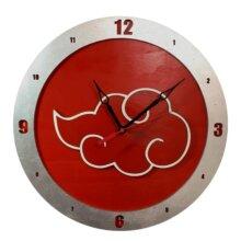 AKatsuki Naruto Clock on Red Background