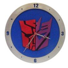 AutoCon Transformer Clock on blue background