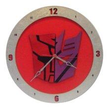 AutoCon Transformer Clock on red background