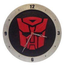 Autobot Transformers Clock on Black Background