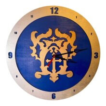 Belmont Castle Castlevania Clock on Blue Background