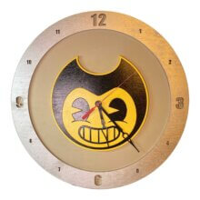 Bendy and the Ink Machine Clock on beige background