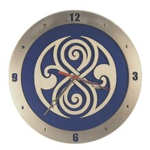 Dr Who Gallifreyan Clock on Blue Background