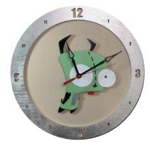 Gir Invader Zim Clock on Beige Background