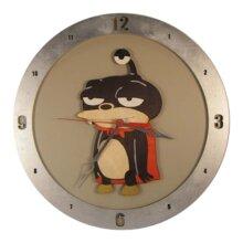 Futurama Lord Nibbler Clock on Beige Background