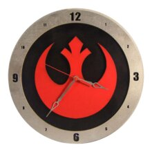 Star Wars Rebel Clock on Black Background