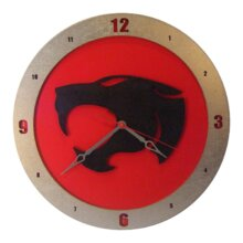 Thundercats Clock on Red Background