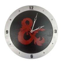D&D Clock on Black Background