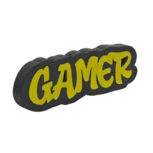 Gamer Graffiti style free standing block words side view