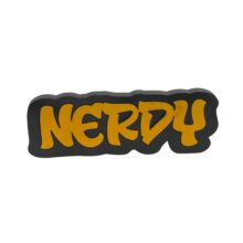 Nerdy  Graffiti style free standing block words