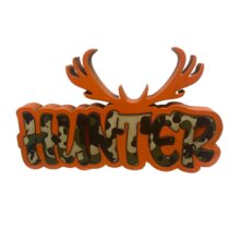Free Standing Hunter Graffiti Word Sign Unique Home Shelf Decor
