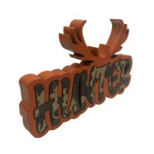 Free Standing Hunter Graffiti Word Sign Sideways