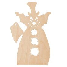 Killer Clown DIY Unfinished Wood Craft to color or paint