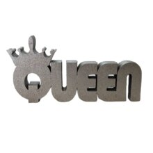 free standing queen block word sign