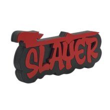 Slayer Graffiti style free standing block words side view