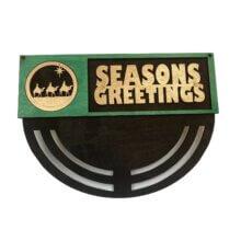 3 Wise Men Seasons Greetings Wreath Rails