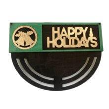 Bells Happy Holidays Wreath Rails