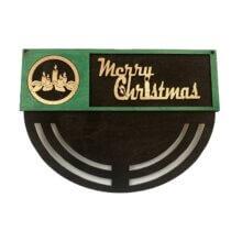 Candle Merry Christmas Wreath Rails