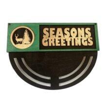 Deer Seasons Greetings Wreath Rails